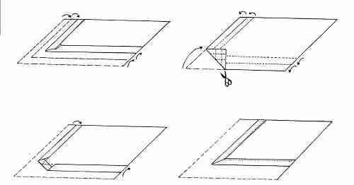La couture des angles en onglet art et d coration - Coudre un biais en angle ...